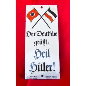 """""""Der Deutsche grüßt: Heil Hitler!"""" Sign # 5369"""