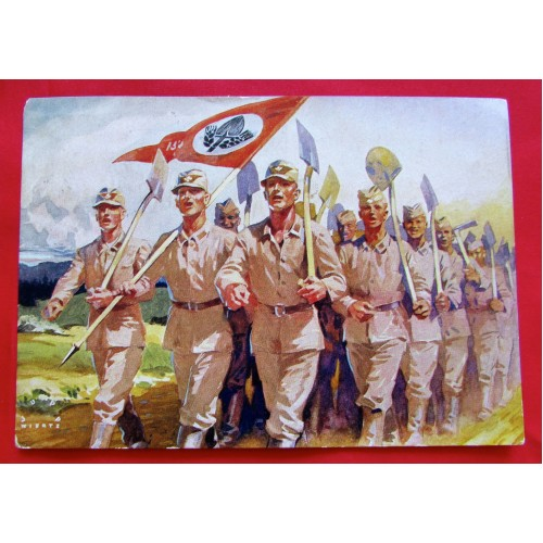 Die Postkarte des Reichsarbeitsdienstes postcard # 5373