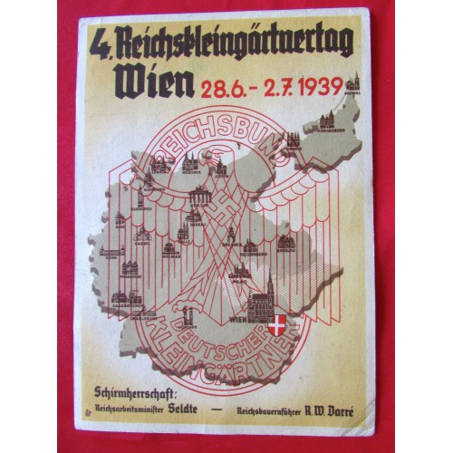 4. Reichskleingärtnertag Wien Postcard # 5378