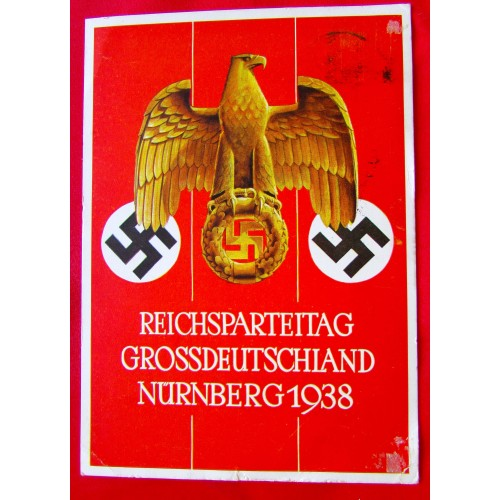 Reichsparteitag Grossdeutschland Nürnberg 1938 Postcard # 5396