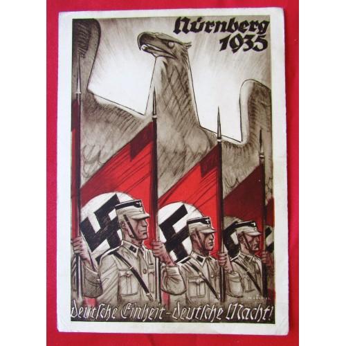 Reichsparteitag 1935, Deutsche Einheit, deutsche Macht, Postcard # 5402