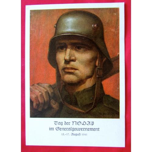 Tag der NSDAP im Generalgouvernement 1941 Postcard # 5410