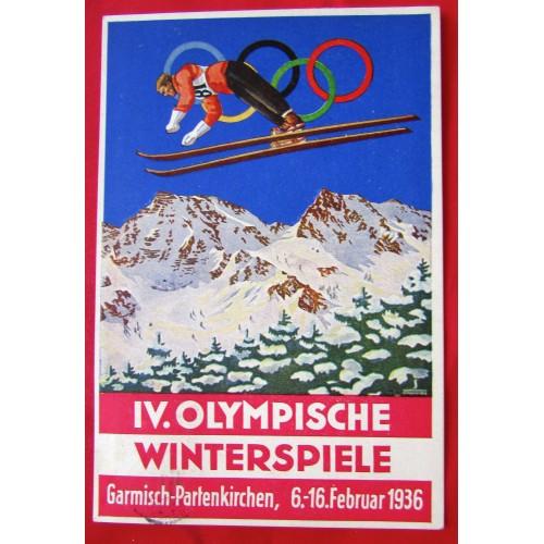 IV. Olympische Winterspiele Postcard # 5412