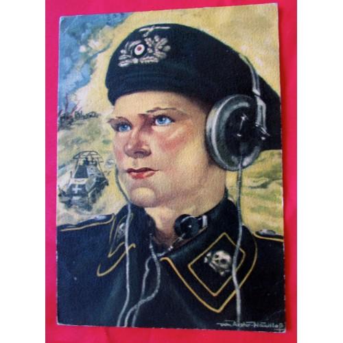 Panzer Reconnaissance Officer Postcard # 5418