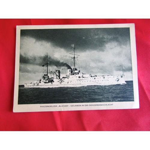 Panzerkreuzer Blücher Postcard # 5435