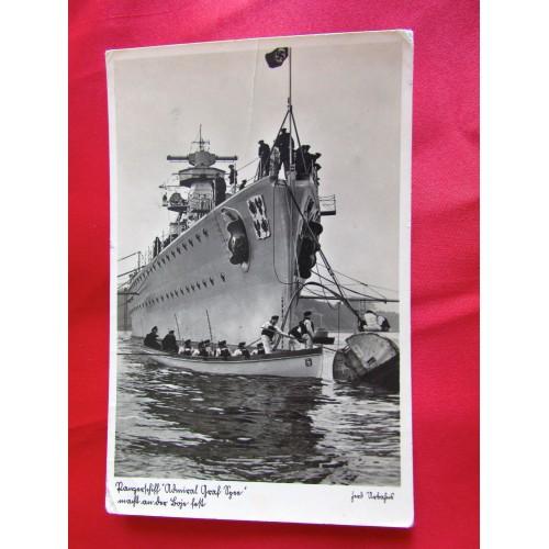 Panzerschiff Admiral Graf Spee Postcard # 5440