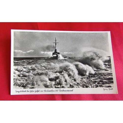 Kriegsmarine Postcard # 5443