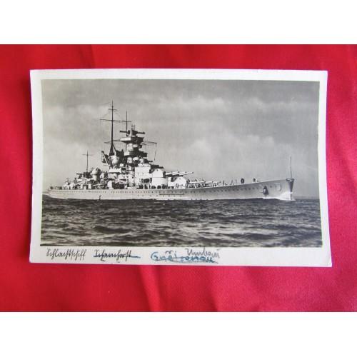 Kriegsmarine Postcard # 5450