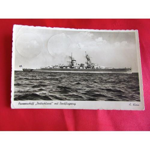 Panzerschiff Deutschland Postcard # 5454