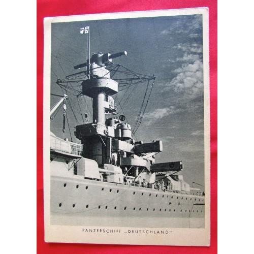 Panzerschiff Deutschland Postcard # 5455