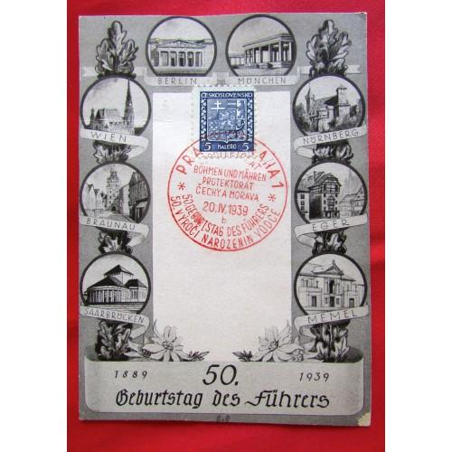 50. Geburtstag des Führers Postcard  # 5502
