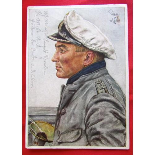 Kapitänleutnant Günther Prien, der Held von Scapa Flow Postcard # 5505