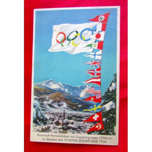 1936 Garmisch Germany Olympics Postcard # 5510