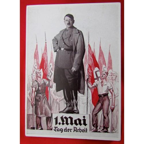 Adolf Hitler 1. Mai Tag der Arbeit Postcard # 5558