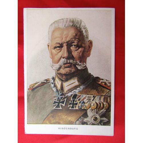 Paul von Hindenburg Postcard # 5580
