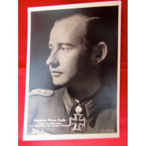 Hauptmann Werner Ziegler Postcard # 5590
