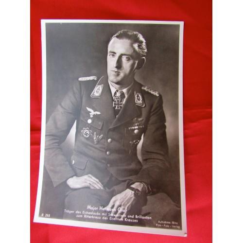 Major Hermann Graf Postcard
