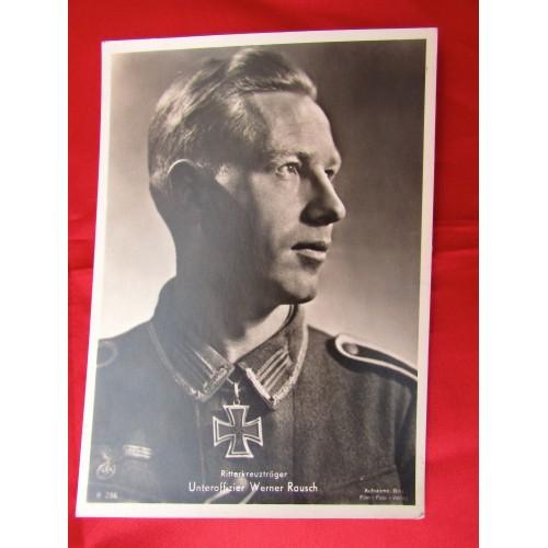 Unteroffizier Werner Rausch Postcard # 5592