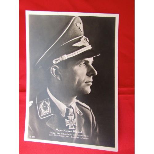 Major Herbert Ihlefeld Postcard # 5596