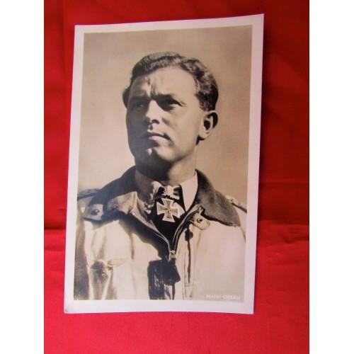 Major Oesau Postcard