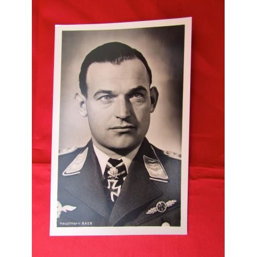 Hauptmann Baer Postcard # 5604