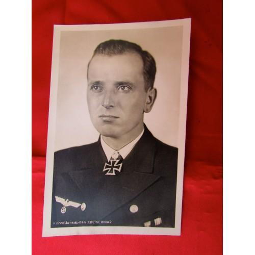 Korvettenkaptain Kretschmar Postcard # 5608