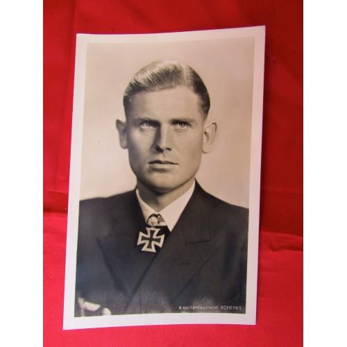 Kaptainleutnant Schepke Postcard # 5610