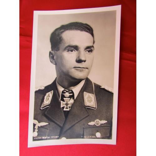 Major Walter Storp Postcard