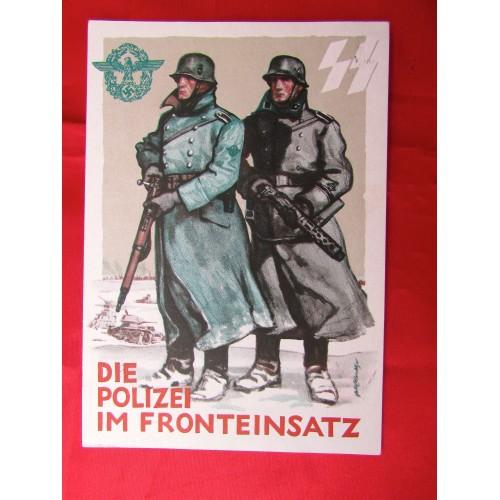 Die Polizei Im Fronteinsatz Postcard # 5623