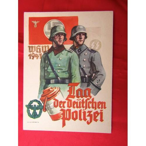 Tag der Deutschen Polizei 1941Postcard # 5629