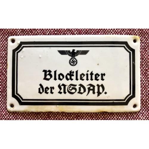 Blockleiter der NSDAP Sign # 5718
