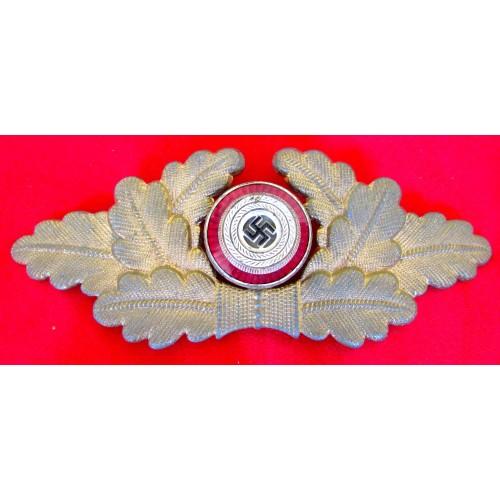 NSDAP Political Visor Cap Wreath Insignia # 5725
