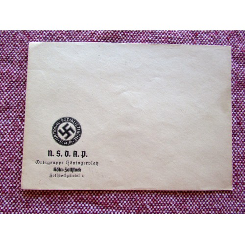 Ortsgruppe Höningerplatz Envelope # 5747