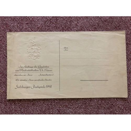 Salzburger Festspiele 1941 Envelope # 5752