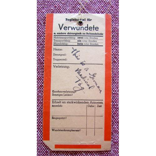 German Medical Tag  # 5754