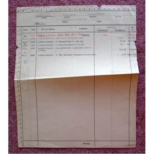 Felix Steiner Record # 5756