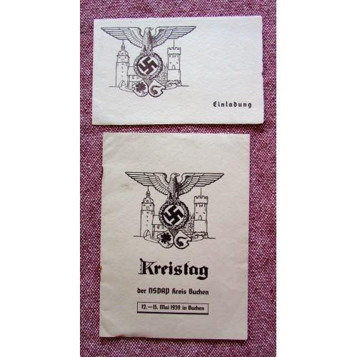 Kreistag der NSDAP Program # 5762