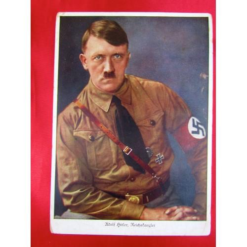 Adolf Hitler Reichskanzler Hoffmann Nr. 407 Postcard # 5804