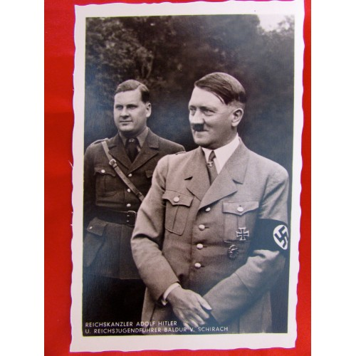 Hitler with V. Schirach Postcard # 5817