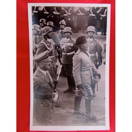 Hitler Mussolini Postcard # 5825