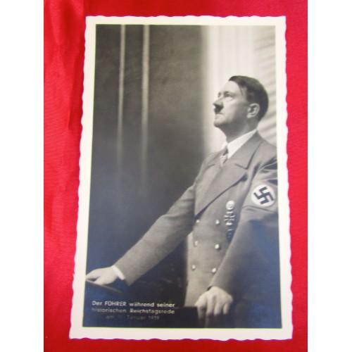 Der Führer Reichstagsrede Postcard # 5826