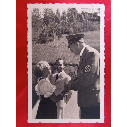 Hitler Goebbels Postcard # 5856