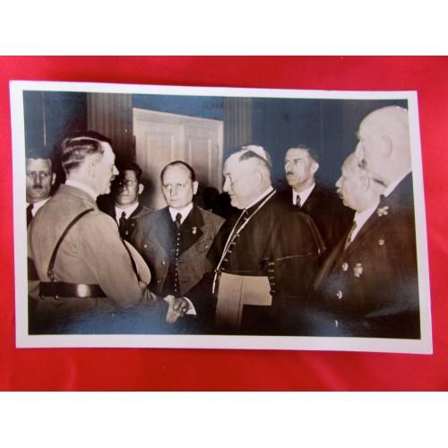 Hitler with Bishop Postcard # 5899