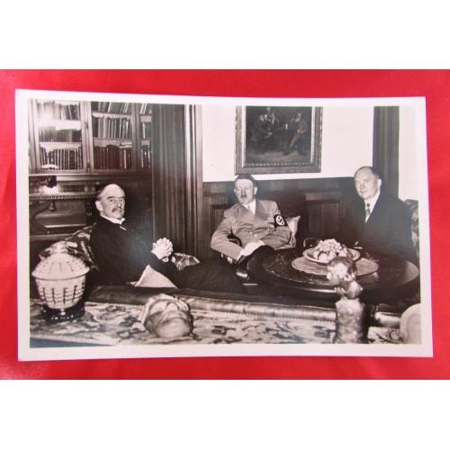 Hitler with Chamberlain Postcard # 5905