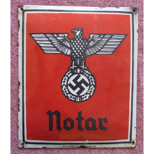 Notar Enamel Sign # 5908