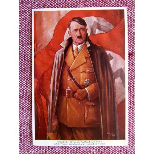 Führerrbildnis auf der Tierärzteschlungsburg Hoheneck in Franken Postcard # 5938