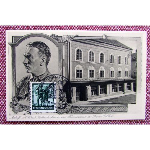 Adolf Hitler Geburtshaus in Braunau im Inn Postcard # 5939