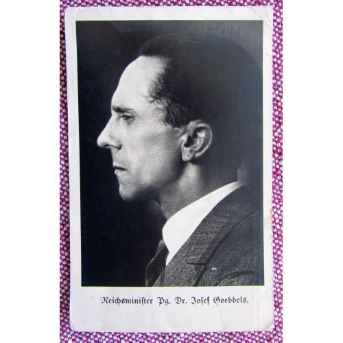 Reichsminister Pg. Dr. Josef Goebbels Postcard # 5945