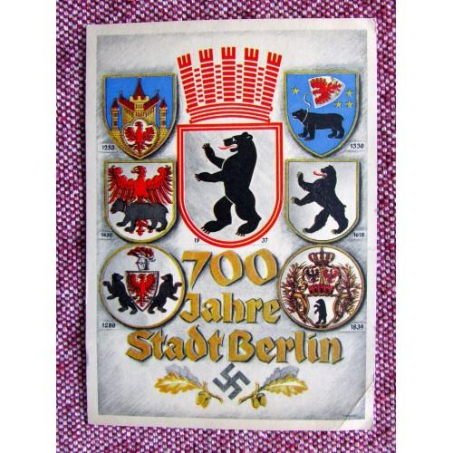 700 Jahre Stadt Berlin Postcard # 5962