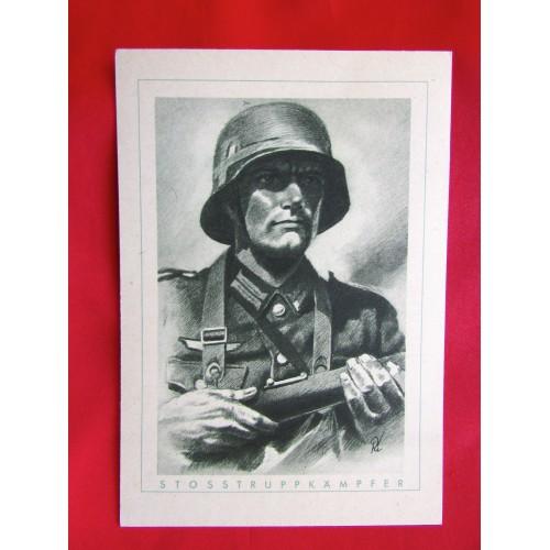 Der Deutsche Soldat Strosstrupp Kämpfer Postcard # 5974